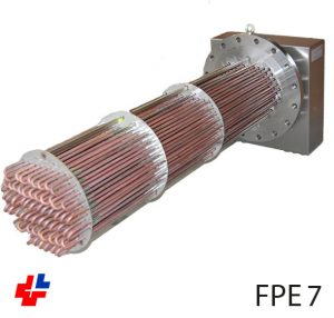 Flange heater 350kW NW400, copper heating elements