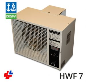 Fan heater 3/6/9kW 400V3F, 440V3F, type EVN DNV certification