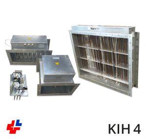 Kanaalverwarmer, luchtverhitter rechthoekig ISO 15138 Norsok