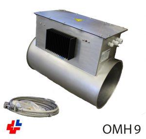 Luchtverhitter naverwarmer 3x400V JACOB buis 0-10Vdc