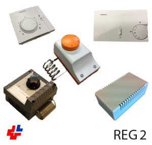 Room thermostat in 1, 2, 3 or 4 stages