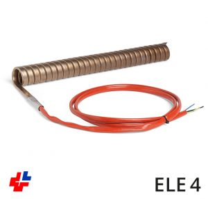 Tube heating element, flat-oval coiled AISI