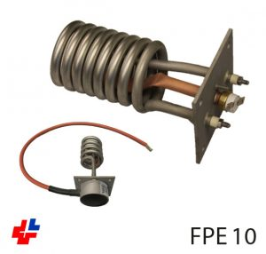 Flange heater 3kW for water