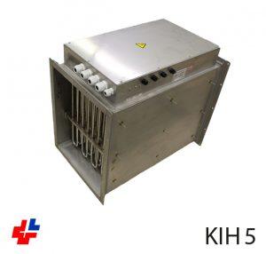 Luchverhitter KIH, RVS 316 met flensaansluiting