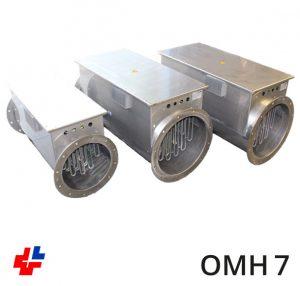 Luchtverhitter OMH, RVS 316L ISO 15138 met 0-10Vdc(optie)